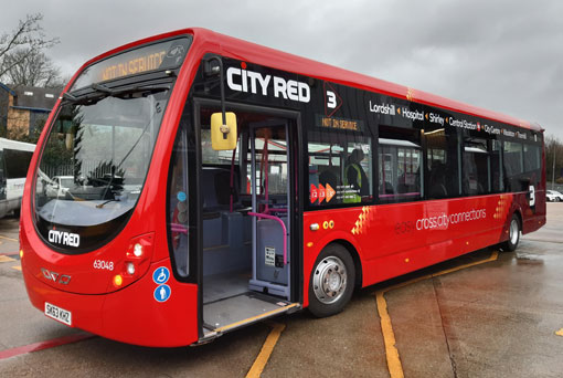City Red Coach Painted